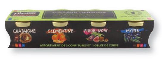 Assortiment de 3 confitures et 1 gelée corses - 4 x 65 g