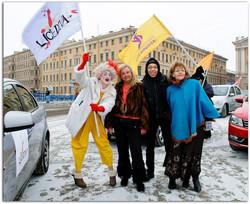 Участие в автопробеге Петербургской недели Женщина Года 2014