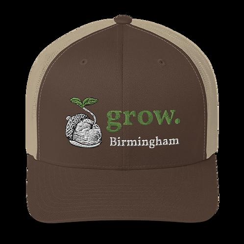 grow. Trucker Cap  3D Puff Embroider