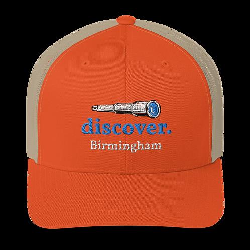 discover. Trucker Cap 3D Puff Embroider