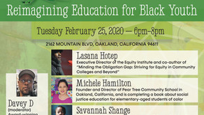"""Pear Tree Hosts """"Learning For Liberation: Re-imagining Education for Black Youth"""""""