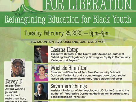 "Pear Tree Hosts ""Learning For Liberation: Re-imagining Education for Black Youth"