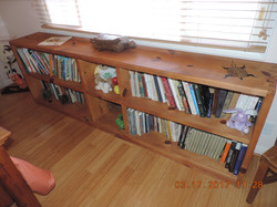 Bookcase with Carved Turtle