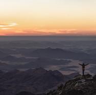 Sunset from Jebel Um Samyouk's ridge.