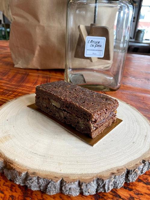 Brownie au Chocolat et Caramel beurre salé et ses Pacanes