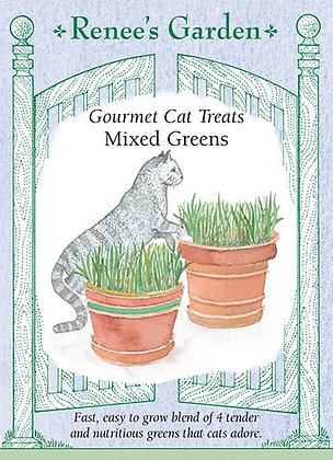Cat Treats Mixed Greens Seeds