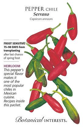 Pepper Serrano Seeds