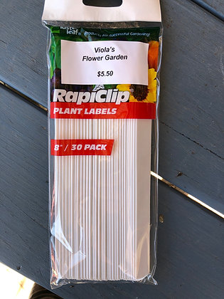 """Plant Labels Plastic 8"""" 30-pak"""