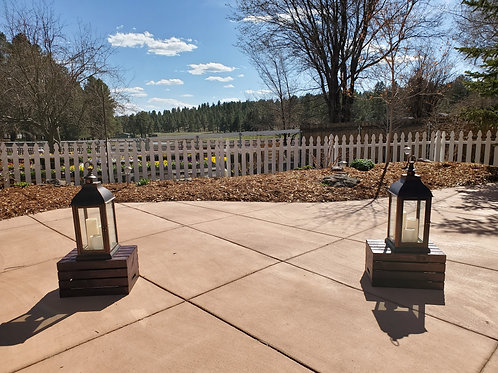 Destressed Copper Lanterns