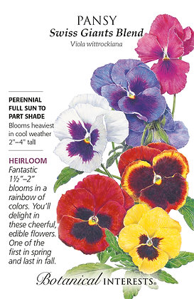 Pansy Swiss Giants Blend Seeds