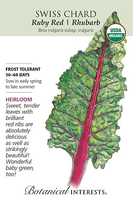 Swiss Chard Ruby Red Seeds