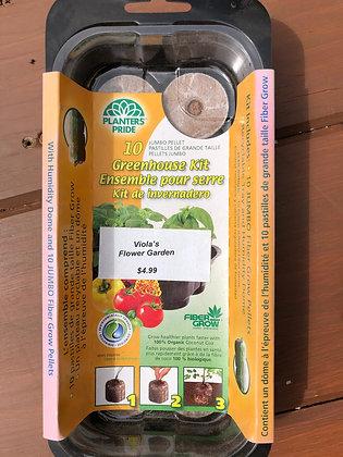 Fiber Grow Pellet Greenhouse Kit 10pc