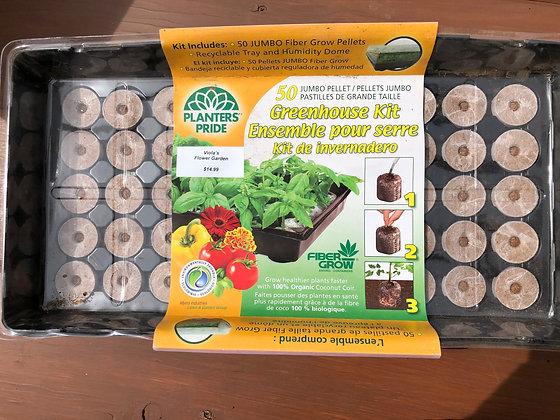 Fiber Grow Pellet Greenhouse Kit 50pc