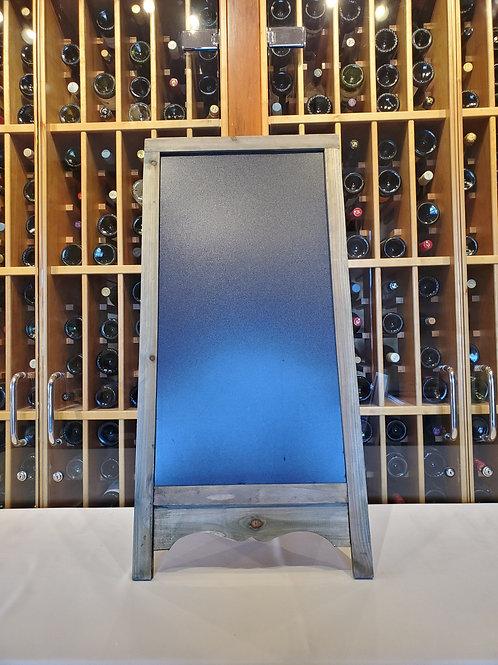Grey Wood Frame Chalkboard Sign