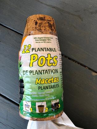 12-pak plantable pots