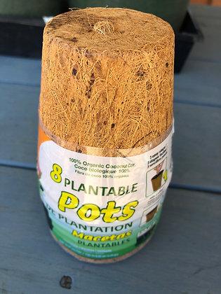 Plantable Fiber Pots 8pk