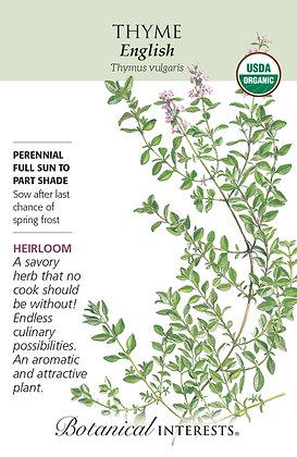 Thyme English Seeds