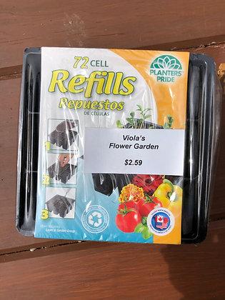 Refill Trays 72 cell pk