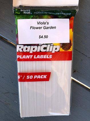 """Plastic Plant Labels 6"""" 50-pak"""
