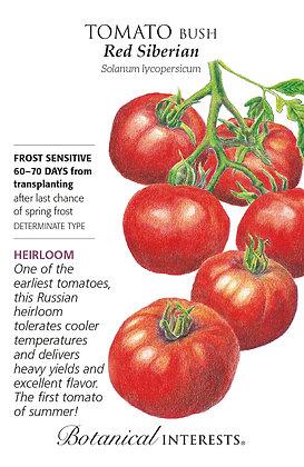 Tomato Bush Red Siberian Seeds