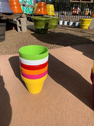 """6"""" Ceramic Colored Pot"""