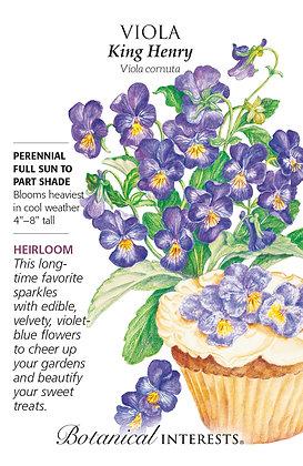 Viola King Henry Seeds