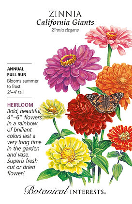 Zinnia California Giants Seeds