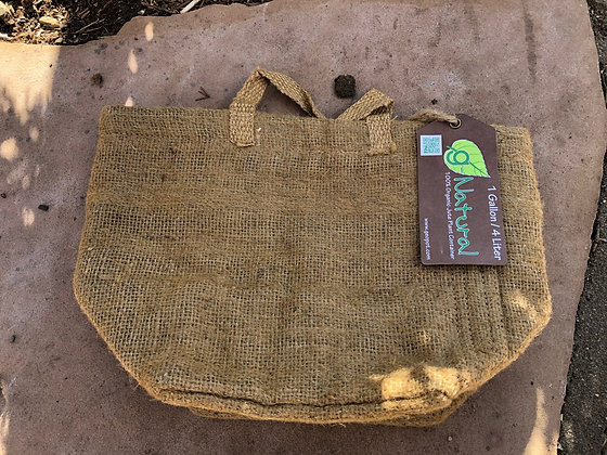 Burlap Organic Planter 1 gallon