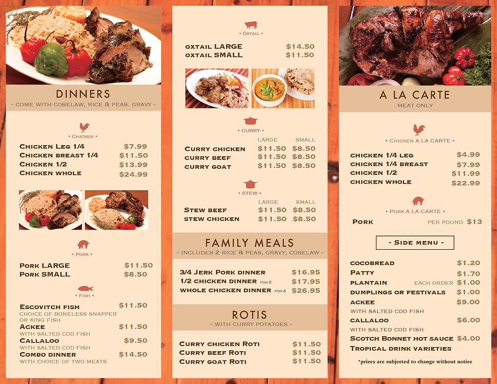 mr jerk menu B