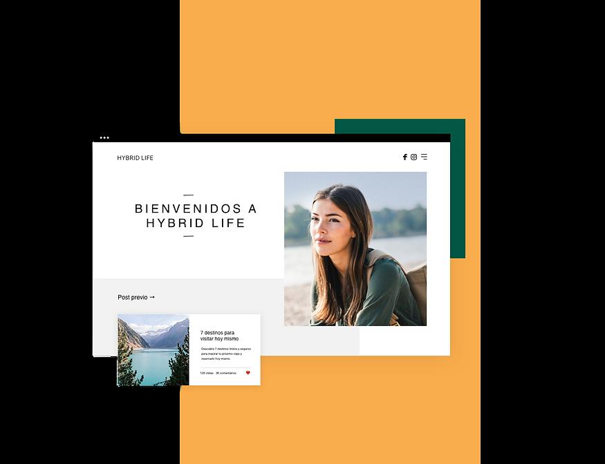Página del blog de viaje llamado Hybrid