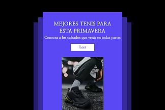 Ejemplo de correo electrónico promocional que muestra zapatos blancos.