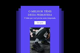 Exemplo de email promocional mostrando sapatos brancos.