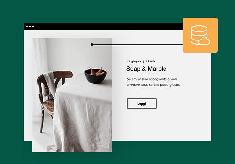 Blog di decorazione di casa con web host