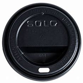 Black Solo Lids Fits 12-20oz Cups (slv of 100 orcase 1000)