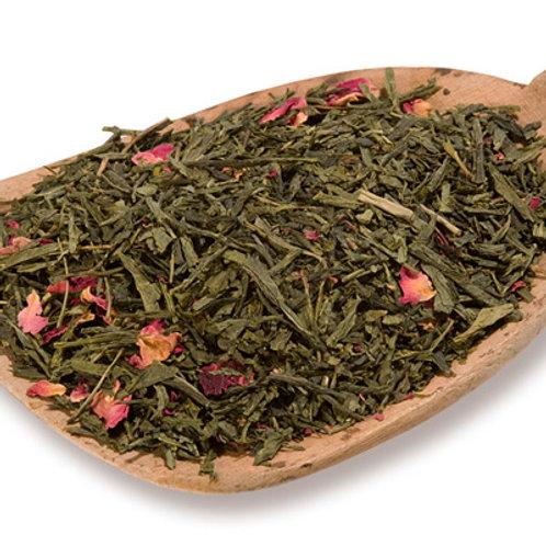 Sencha Kyoto Cherry Rose Nautrally Flavoured Green  Loose Tea