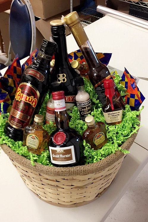 New Years or Party Gift Basket
