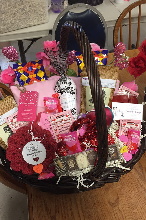 Valentines Day Theme Basket