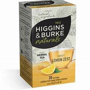 Higgins & Burke Honey Sweet Lemon Zest  (20pk)
