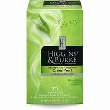 Higgins & BurkeGreen Decaf  (20pk)