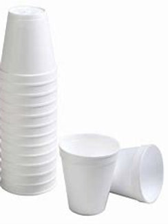 8oz Foam Coffee Cups (slvl 50 or a case of 1000)