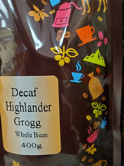 Decaf Highlander Grogg (400g) Whole Bean