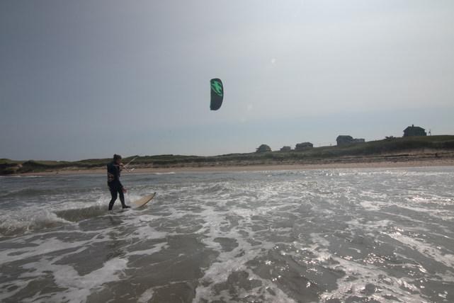 Kitesurf devant la maison