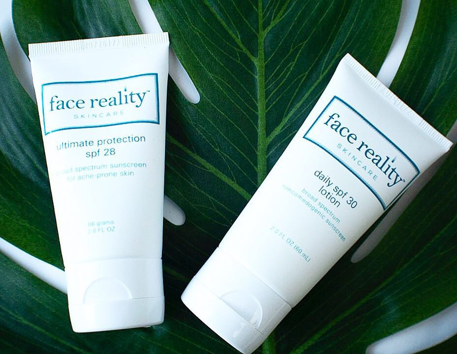 Face Reality Sunscreens for acne-prone skin.