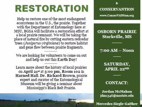 Earth Day Prairie Restoration