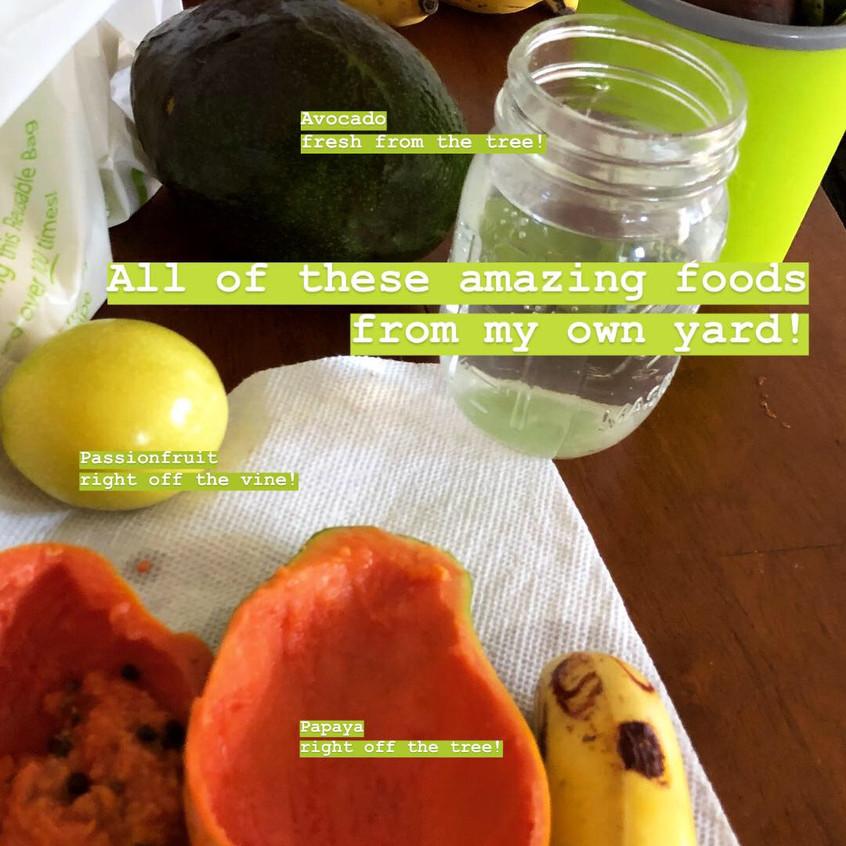 Local St. Croix fruits
