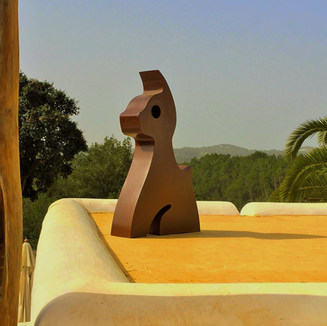 Escultura Ibiza en Acero Corten