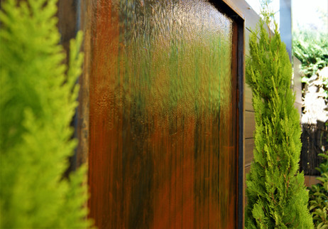 Mural de Agua Acero Corten