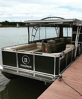 Cruising Belgrade boat