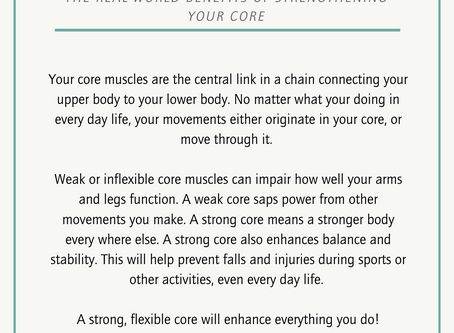 Why Strengthen Your Core?