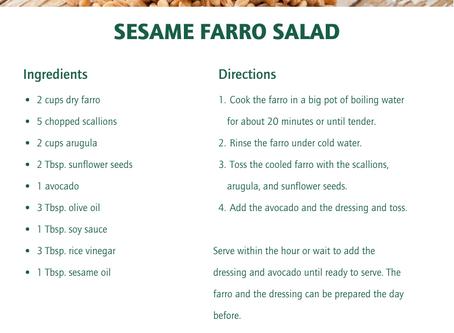 Sesame Farro Salad
